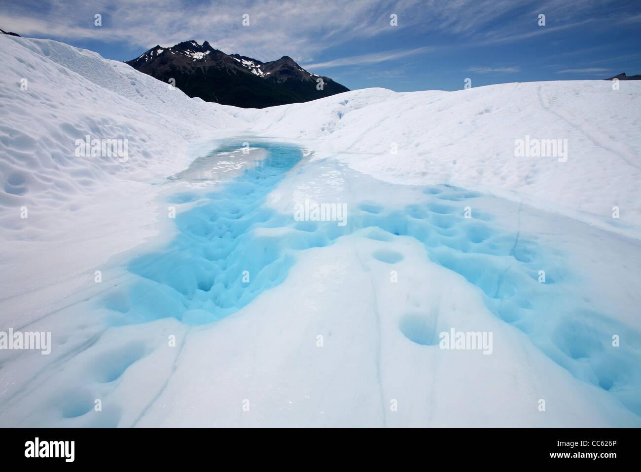 Perito Moreno glacier in the Los Glaciares National Park, Patagonia, Argentina - Stock Image