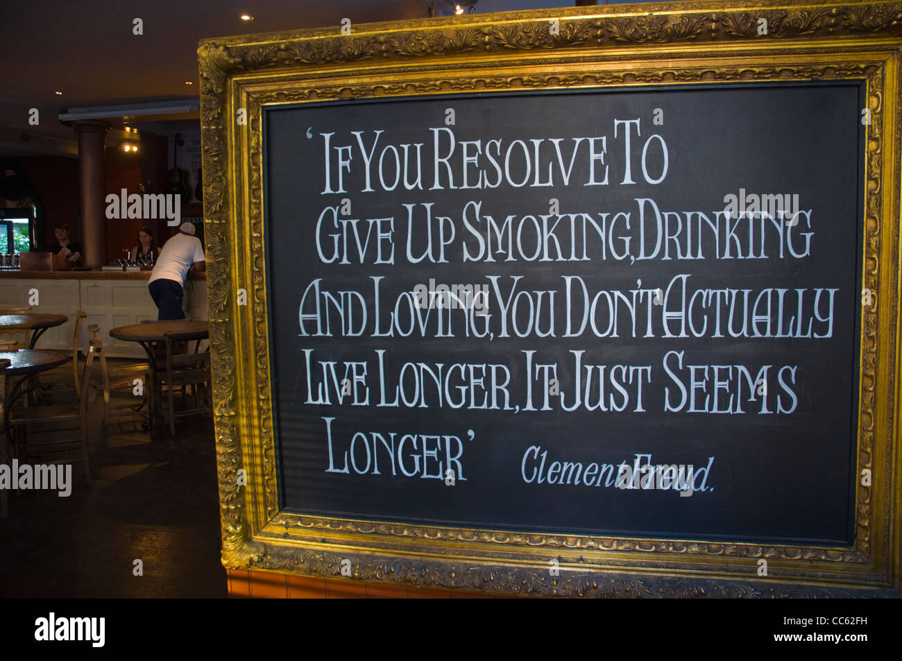 Sign in the doorway of a pub Notting Dale district London England UK Europe - Stock Image