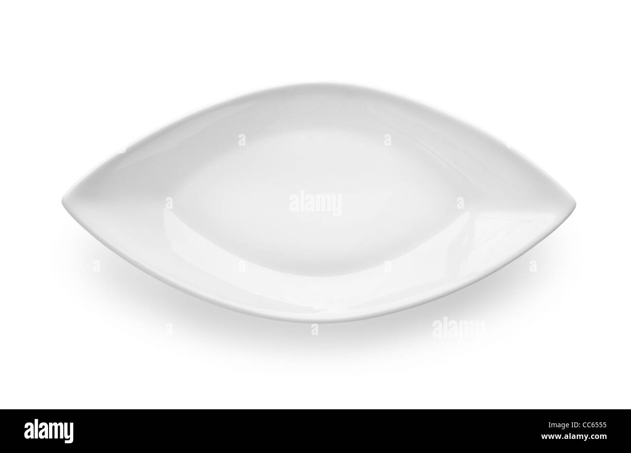 Utensils for fish isolated on a white background Path - Stock Image