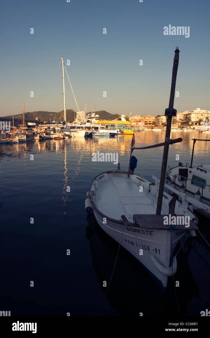 Fishing boats at Cala Ratjada harbour, Majorca, Balearic Islands, Spain - Stock Image