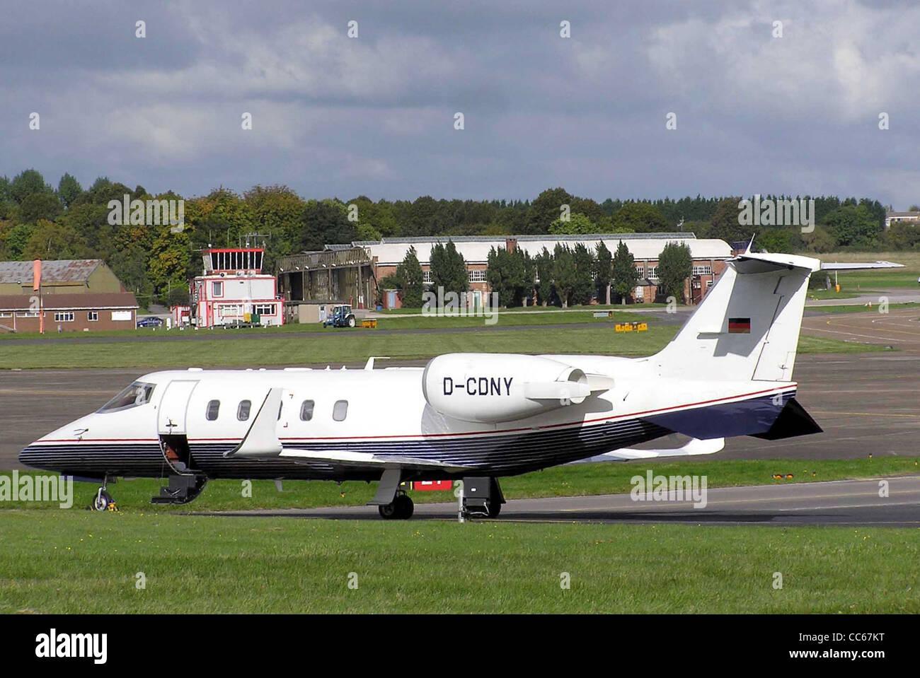 Learjet 60 business jet, German registration D-CDNY. - Stock Image