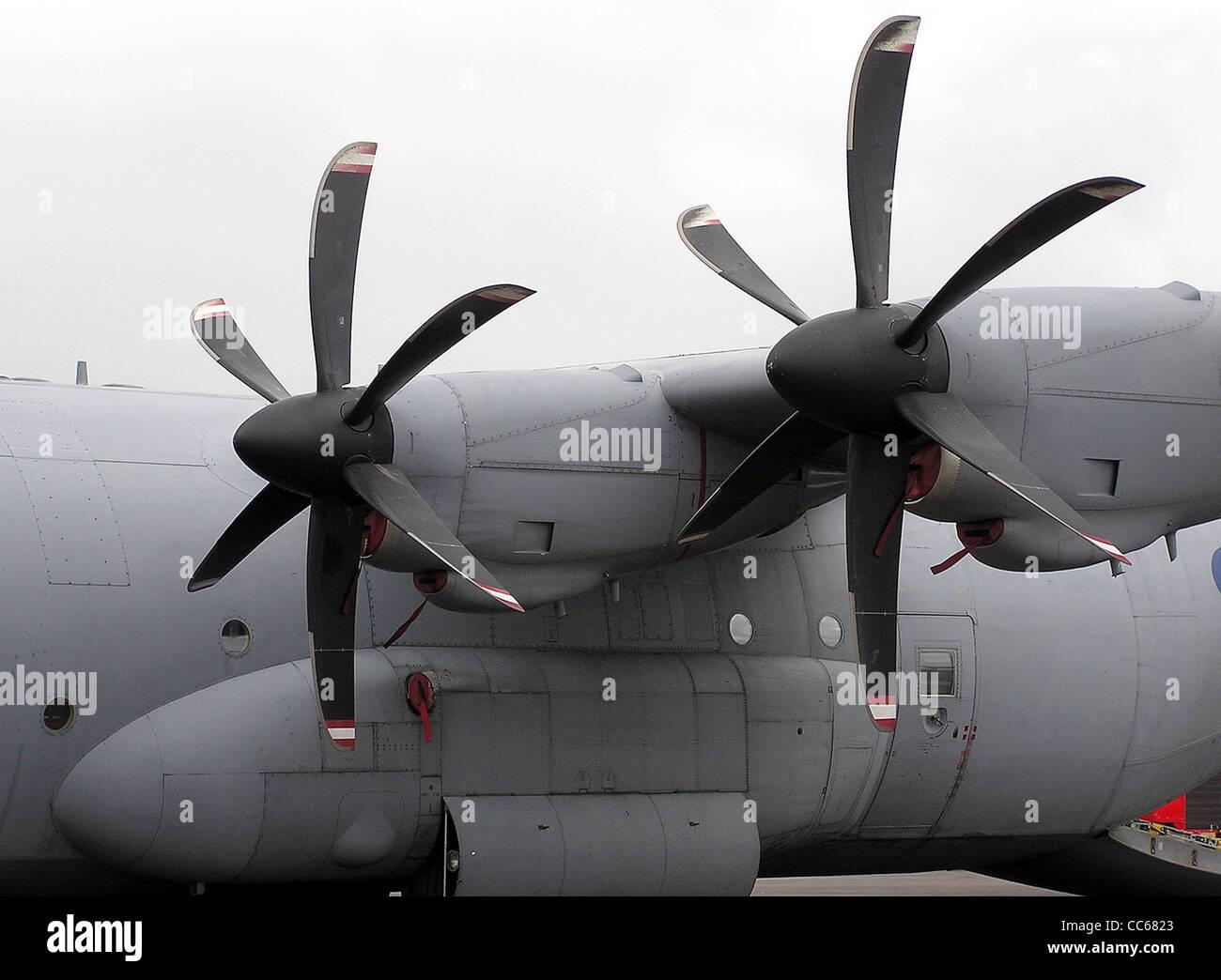 Lockheed Hercules C.4 (C-130J-30) propeller close up - Stock Image