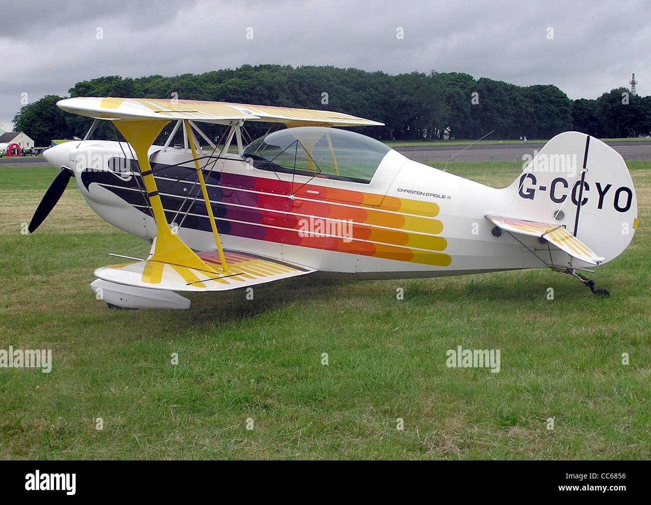 Christen Eagle 2 at Kemble Airfield, Gloucestershire, England. - Stock Image