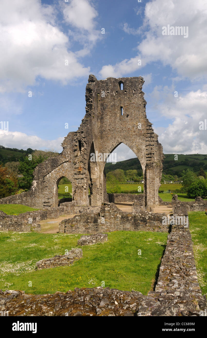 The ruins of Talley Abbey, in Talley, Carmarthenshire, Wales - Stock Image