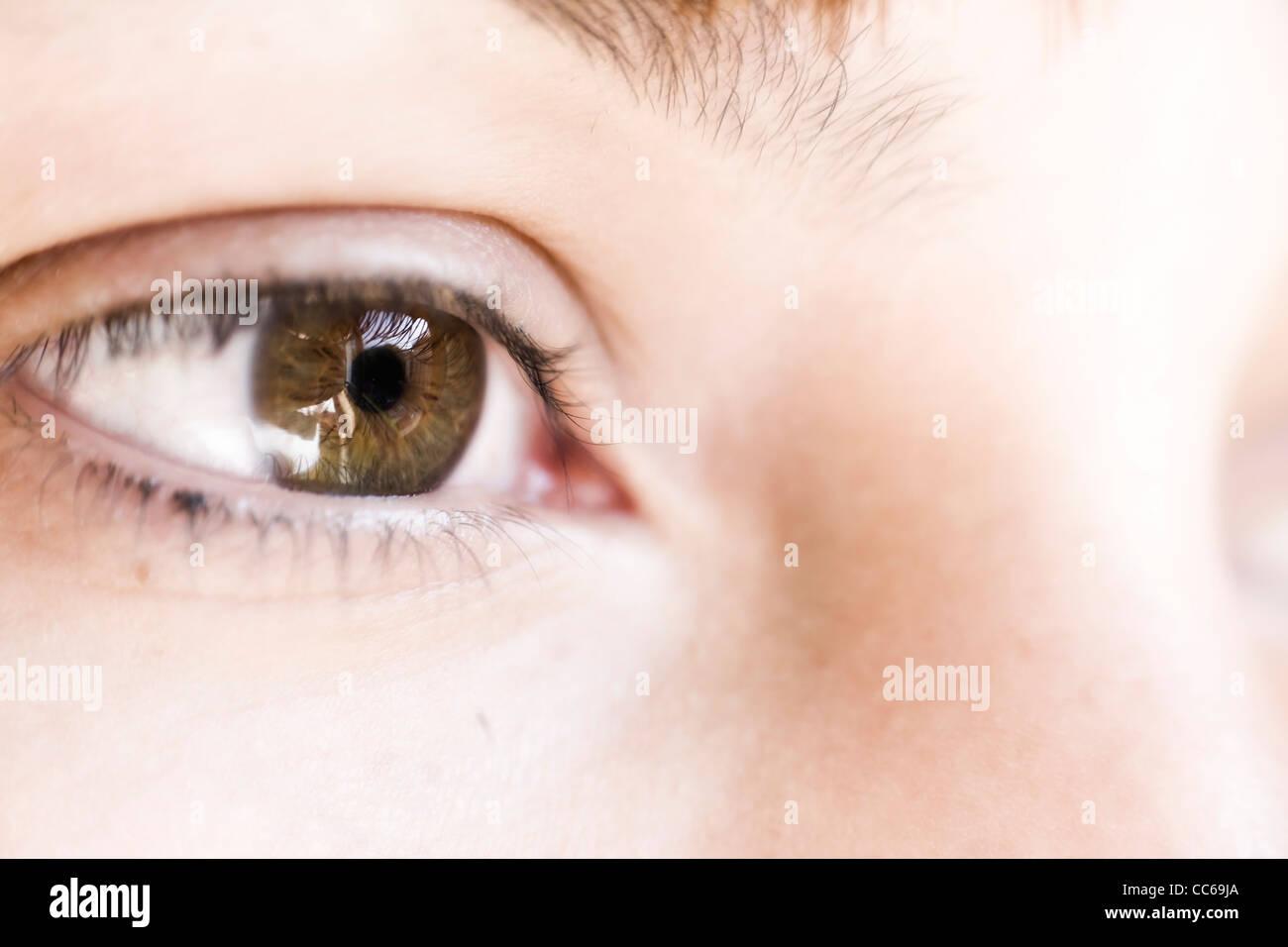 Human eye. macro shooting... - Stock Image