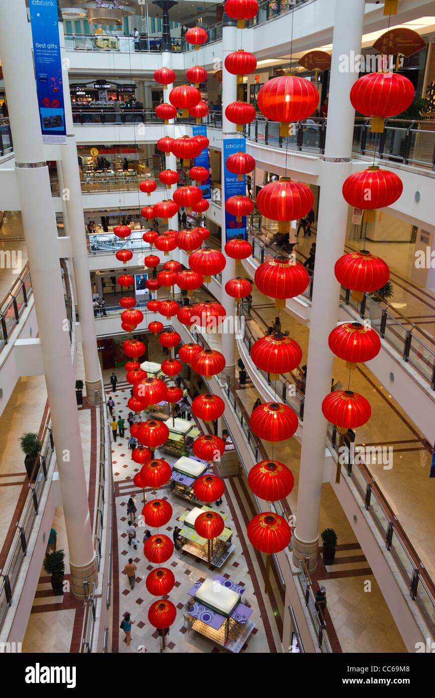 Chinese new year red lanterns, Suria mall KLCC, Kuala Lumpur, Malaysia - Stock Image