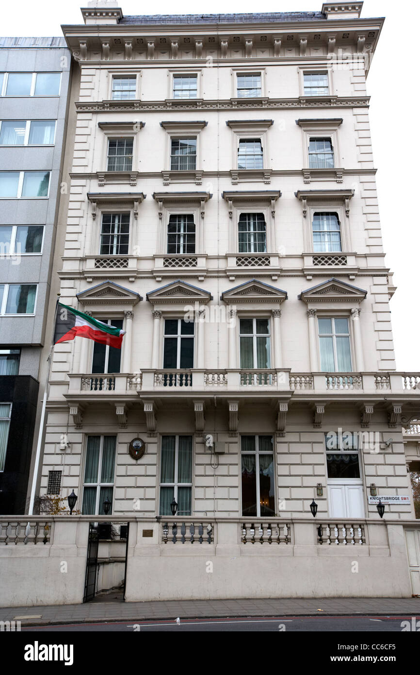 embassy of kuwait kuwaiti embassy in Knightsbridge London England UK United kingdom - Stock Image