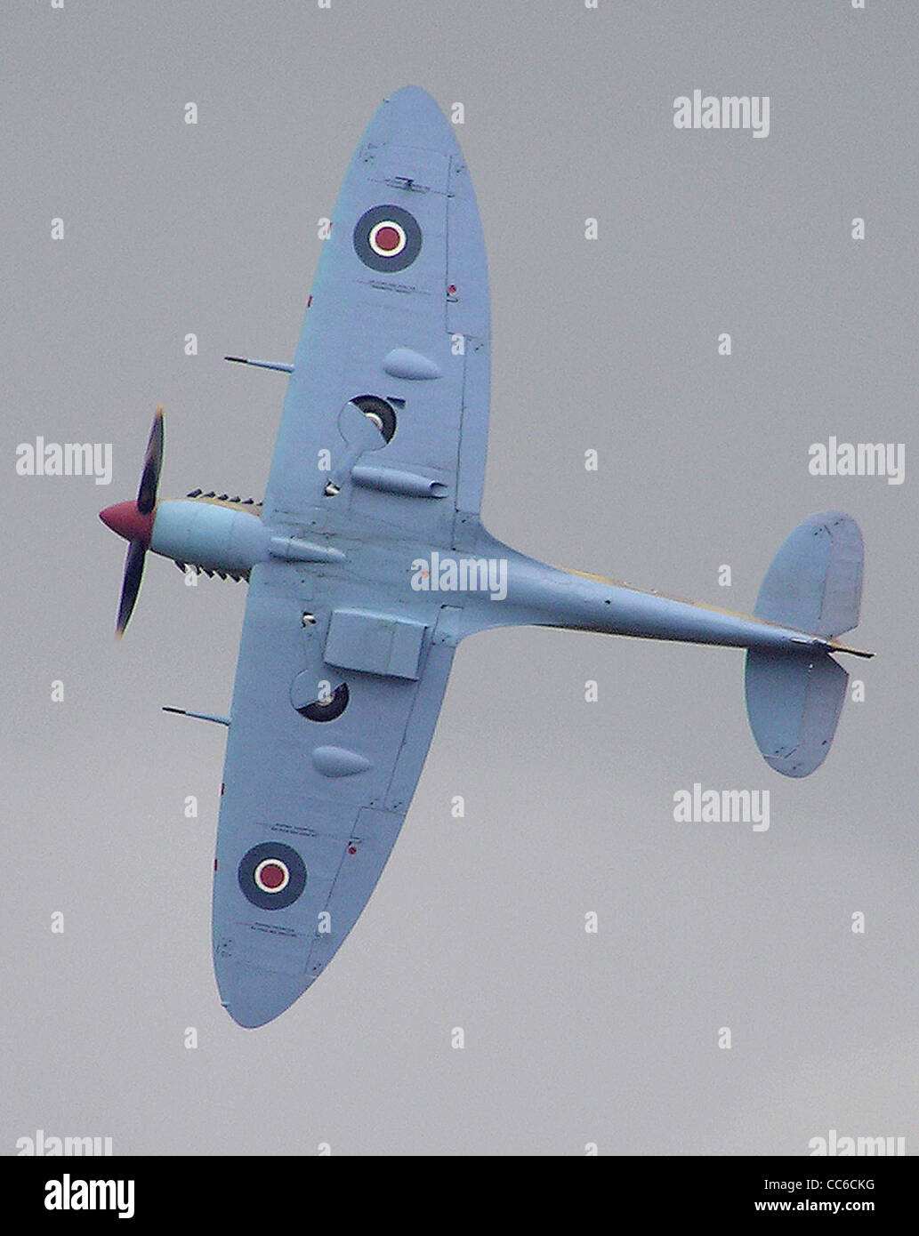 spitfire planform at Kemble Air Day, Kemble airfield, Gloucestershire, England. - Stock Image