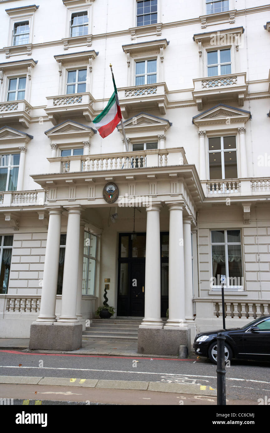 kuwait embassy in Knightsbridge London England UK United kingdom - Stock Image