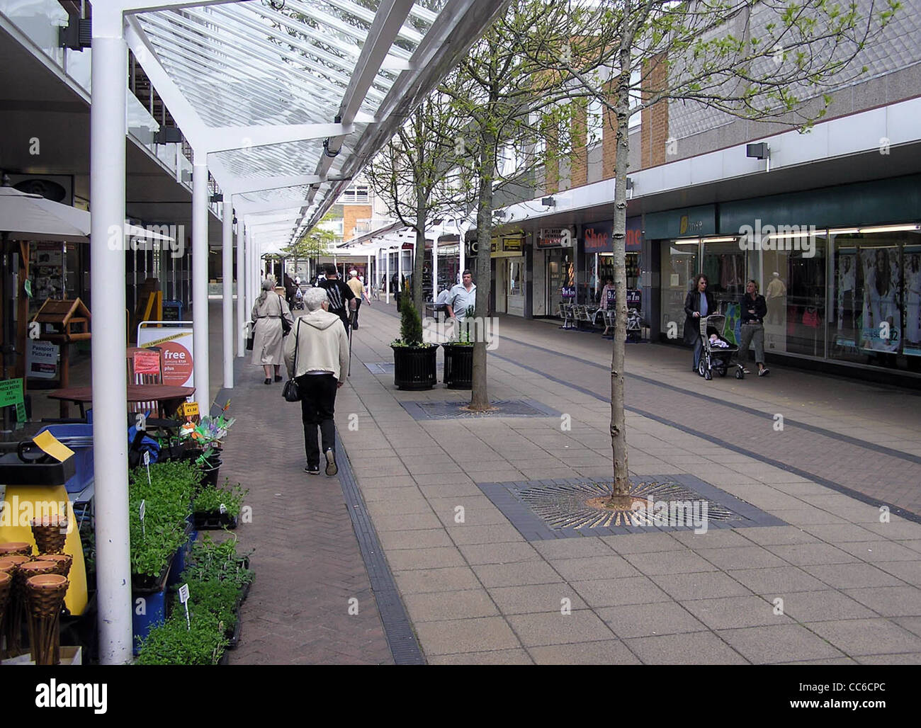 Yate shopping centre has over one hundred shops in a traffic-free precinct. Stock Photo