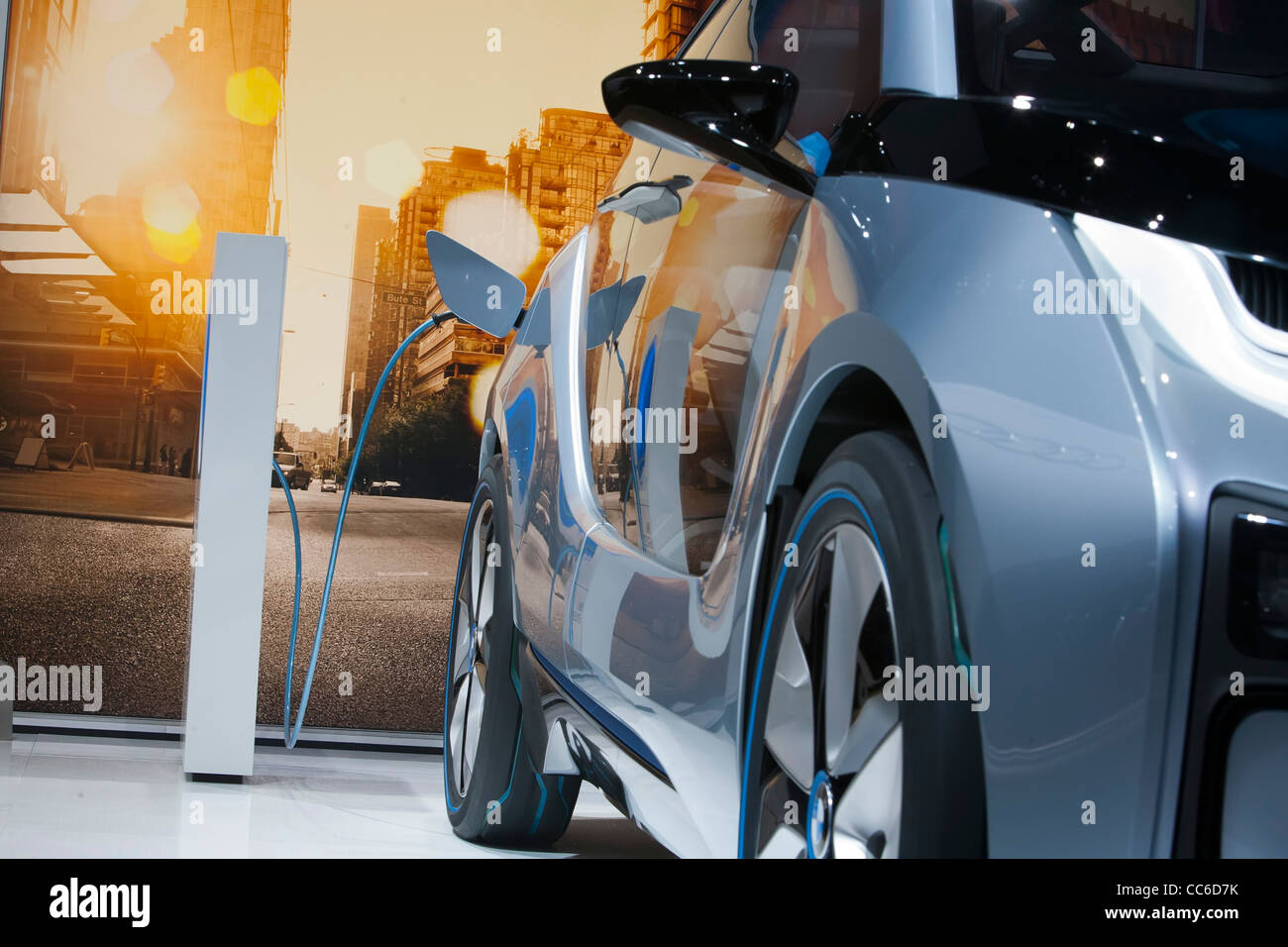 Detroit, Michigan - The BMW i3 concept electric vehicle on display at the North American International Auto Show. - Stock Image
