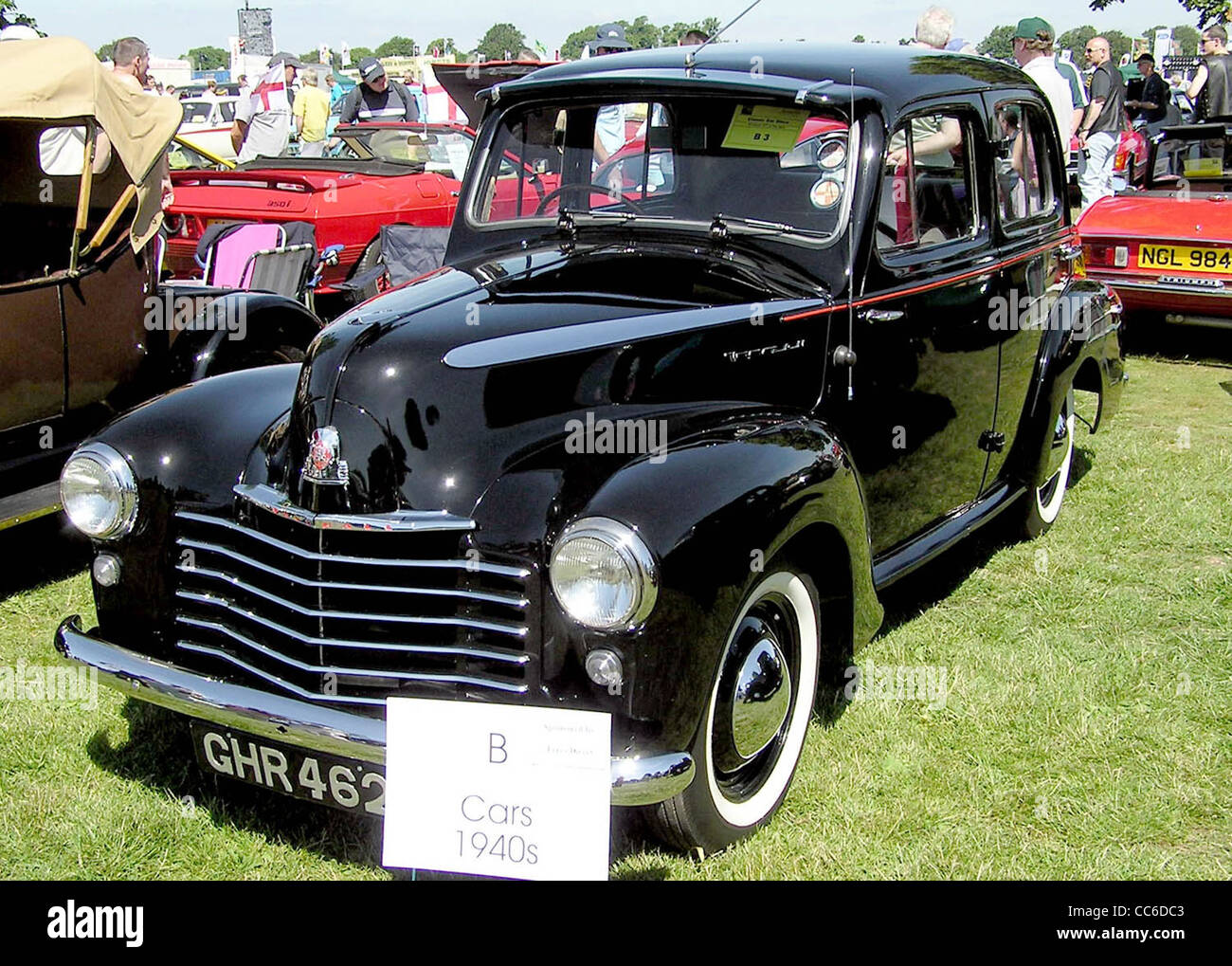 1949 Vauxhall Wyvern (L series) at Bristol Car Show, The Downs, Bristol, England. - Stock Image