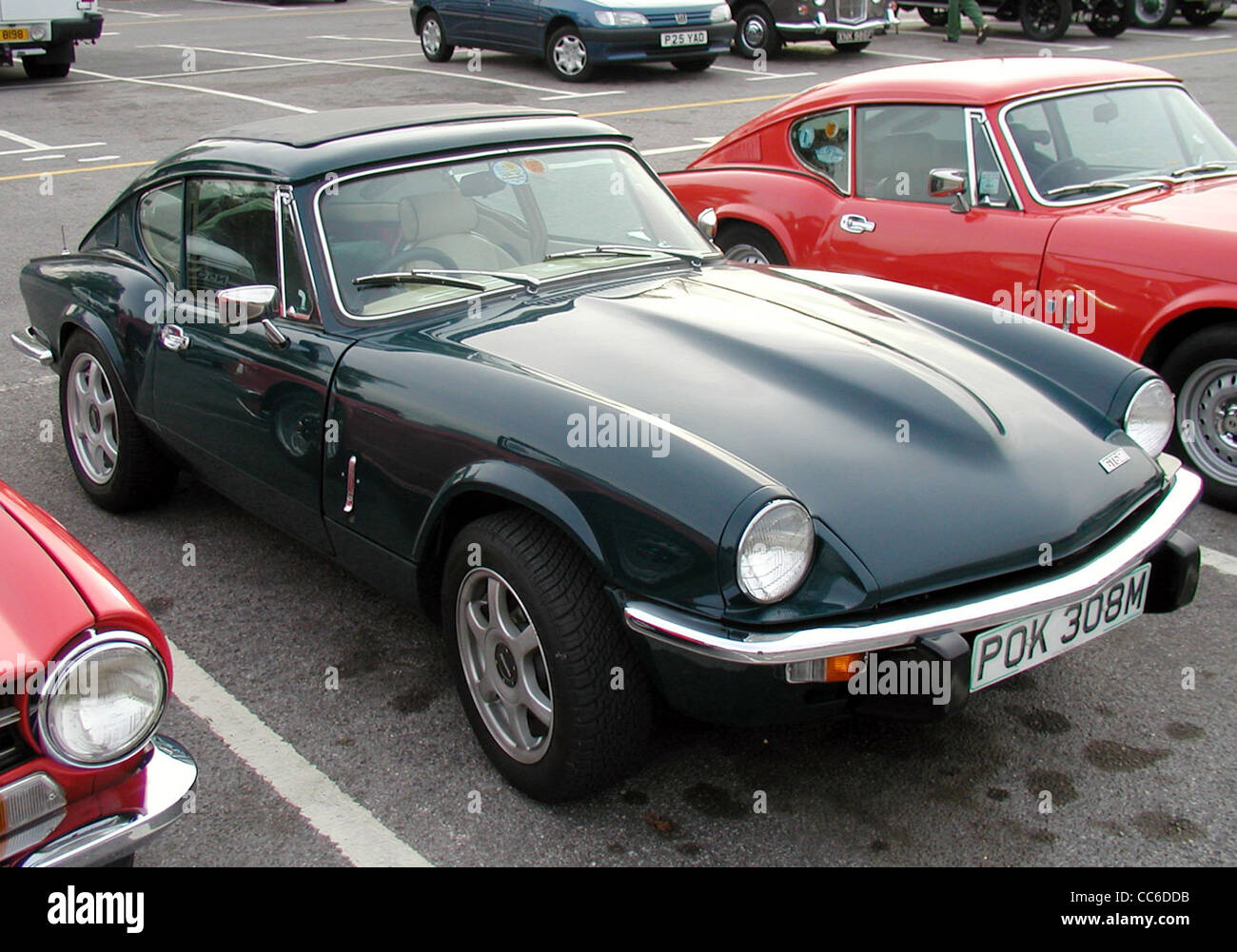1974 Triumph GT6 Coupé at The Great West Road Run rally, Aust, Bristol, England. - Stock Image