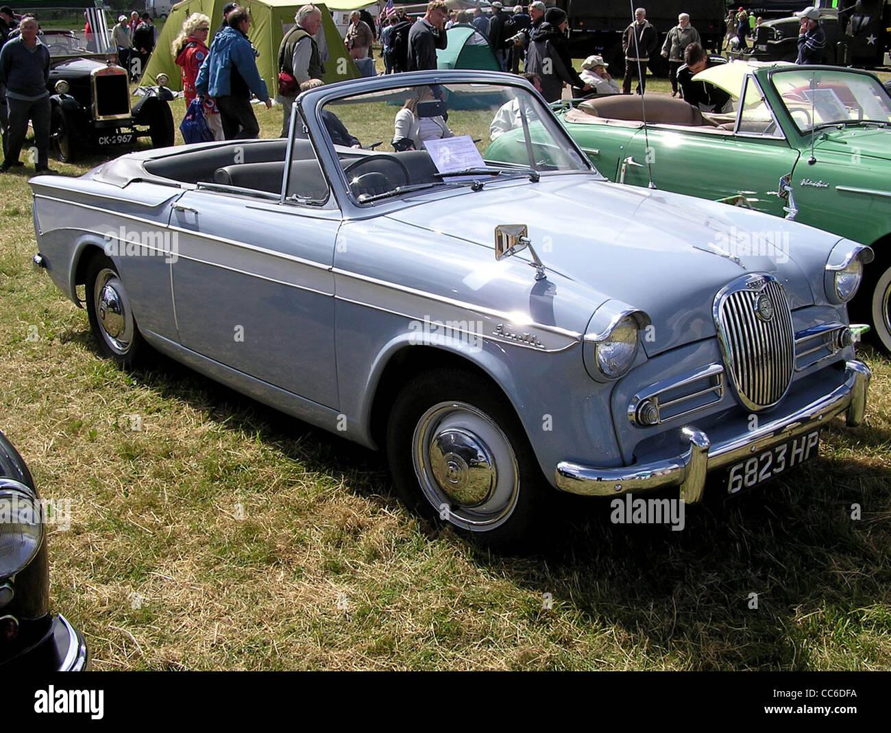 1960 Singer Gazelle Convertible at Yate Car Show, Yate, Bristol, England. - Stock Image