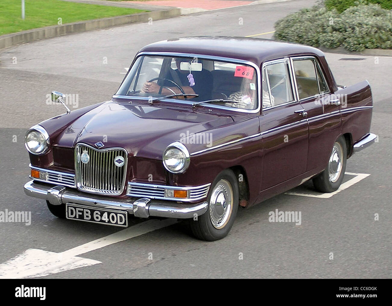 1965 Riley 4/72 at the Great Western Road Run rally at Aust Services, Aust, Bristol, England. - Stock Image