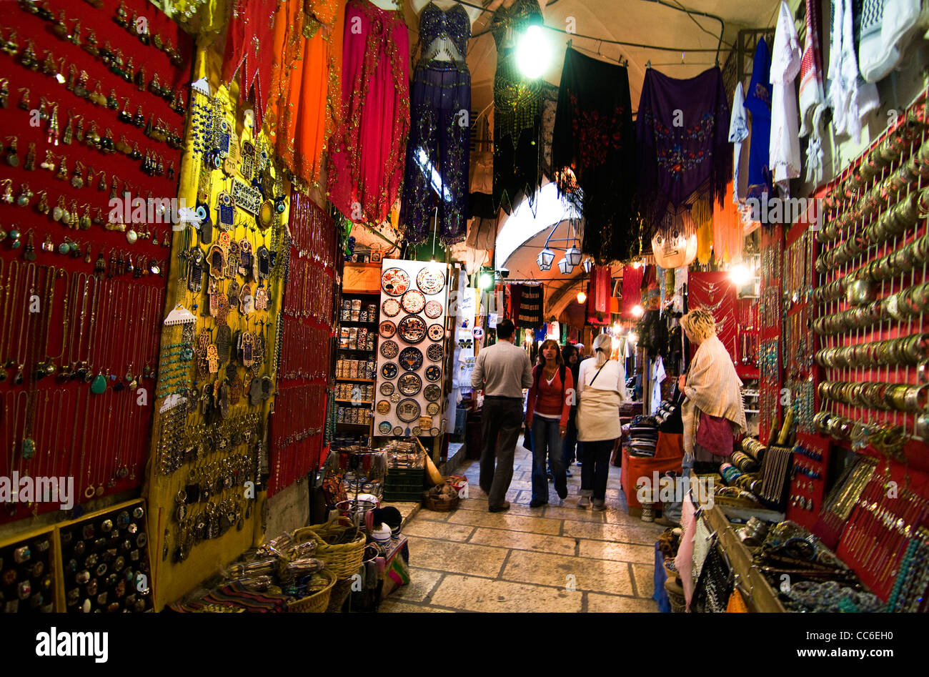 souvenir shops in the old bazaar in the old city of