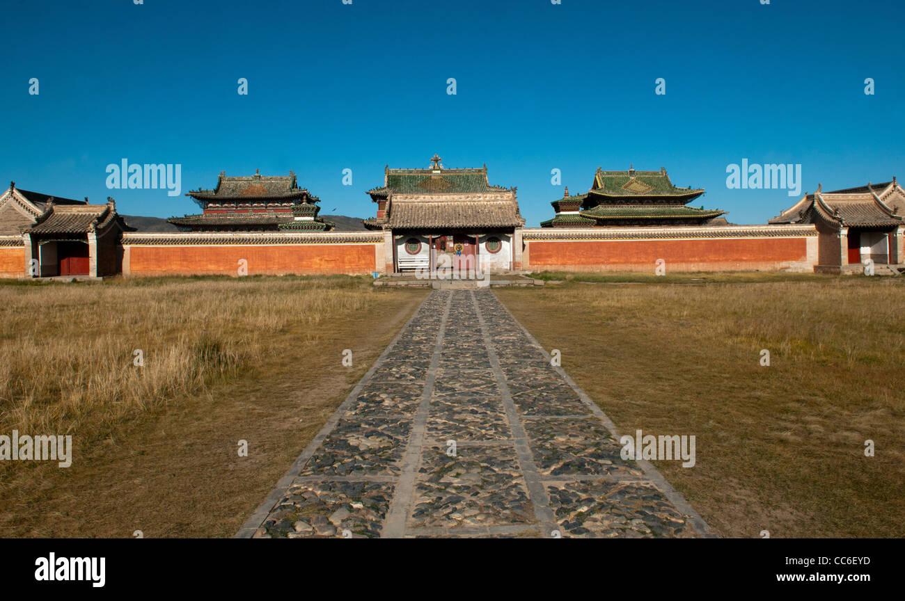 Erdene Zuu Monastery in Central Mongolia - Stock Image