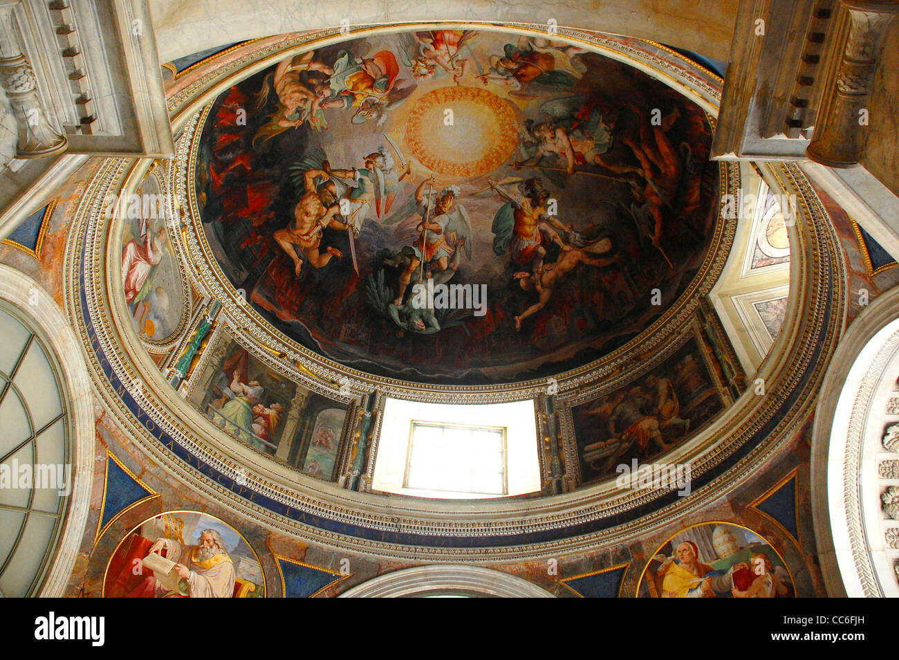 Elaborate drawing of the Vatican Museums, Vatican - Stock Image