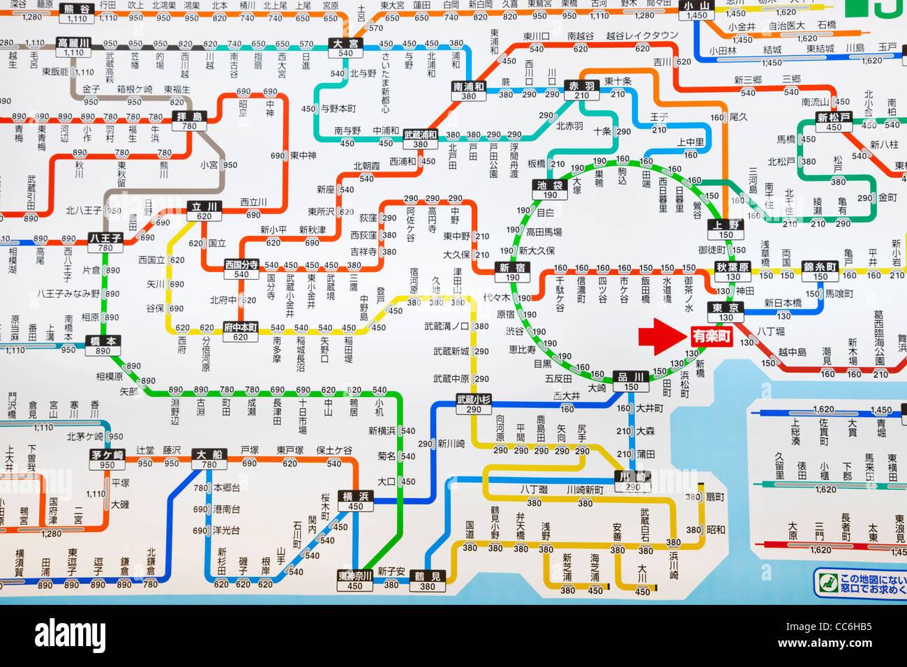 Tokyo Metro Map Stock Photos Tokyo Metro Map Stock Images Alamy