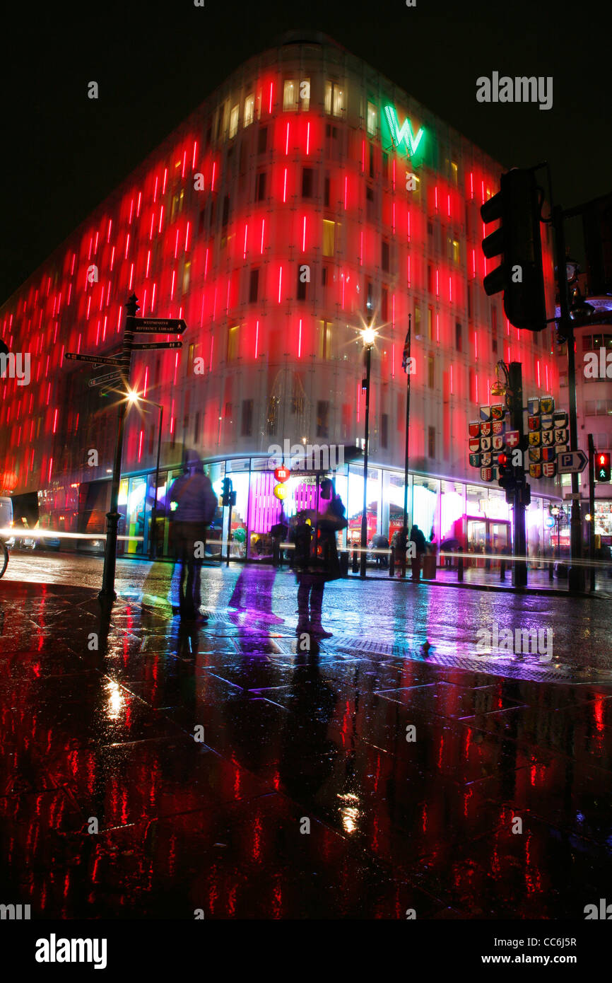 W Hotel on the corner of Wardour Street and Leicester Square, London, UK - Stock Image