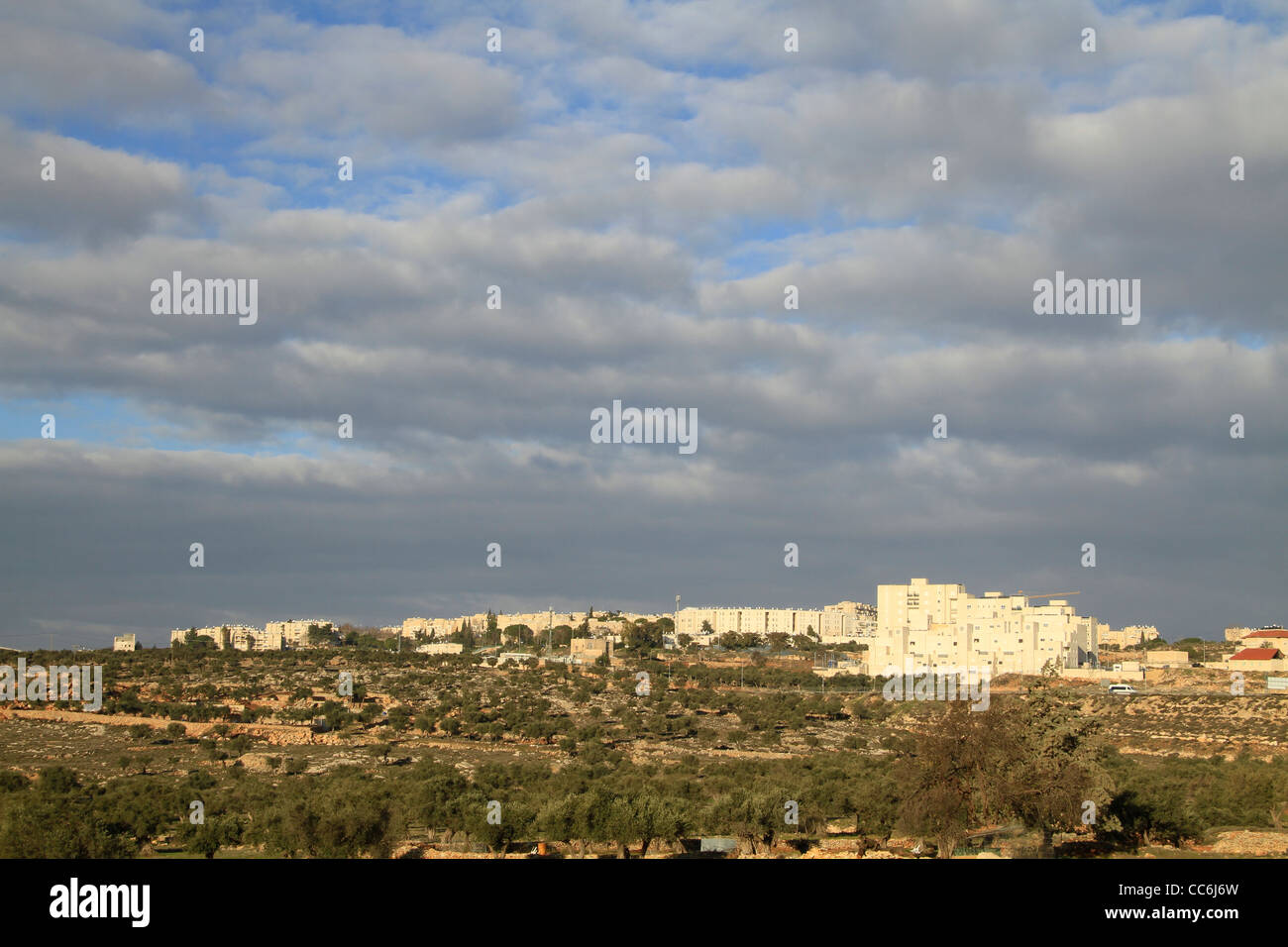 Israel, Jerusalem, a view of Gilo neighbourhood - Stock Image