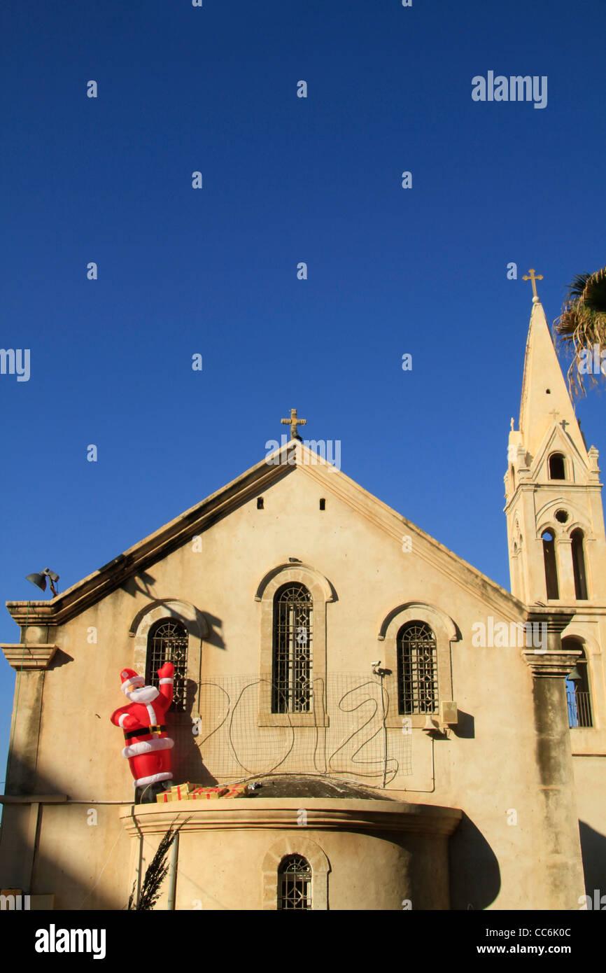 Israel, Jaffa, Christmas at the Greek Orthodox Church of St. George - Stock Image