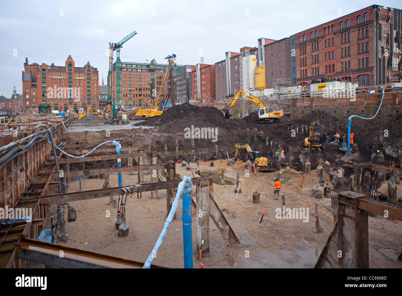 building site at Hafen City, Hamburg, Germany - Stock Image
