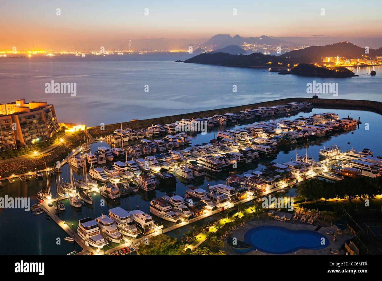 China, Hong Kong, Lantau, Discovery Bay, Discovery Bay Marina Club - Stock Image