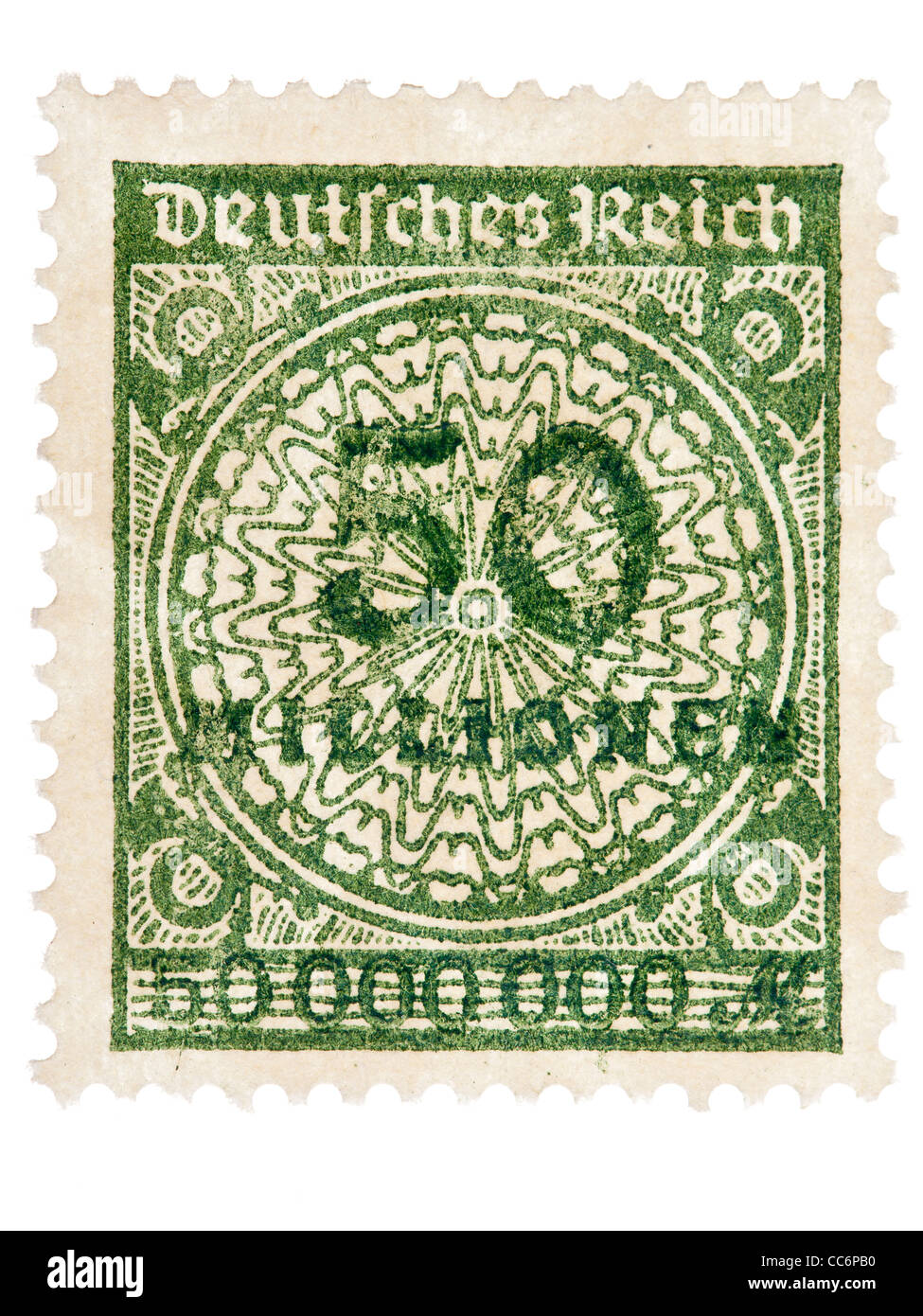 Postage Stamp German Empire Germania 1923 50 Million Mark Mint Condition