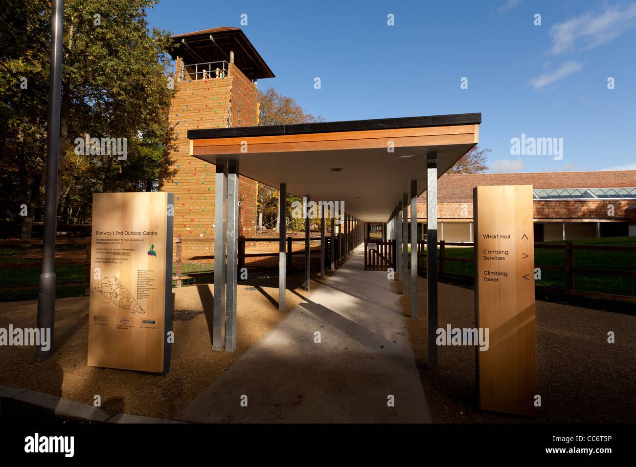 Entrance to  Runways End Outdoor Activity Centre, Farnborough - Stock Image