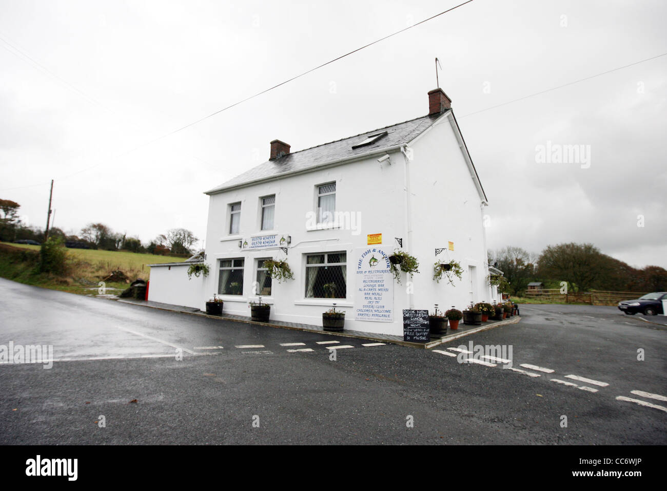The Fish and Anchor pub near Lampeter Wales, which featured in ...