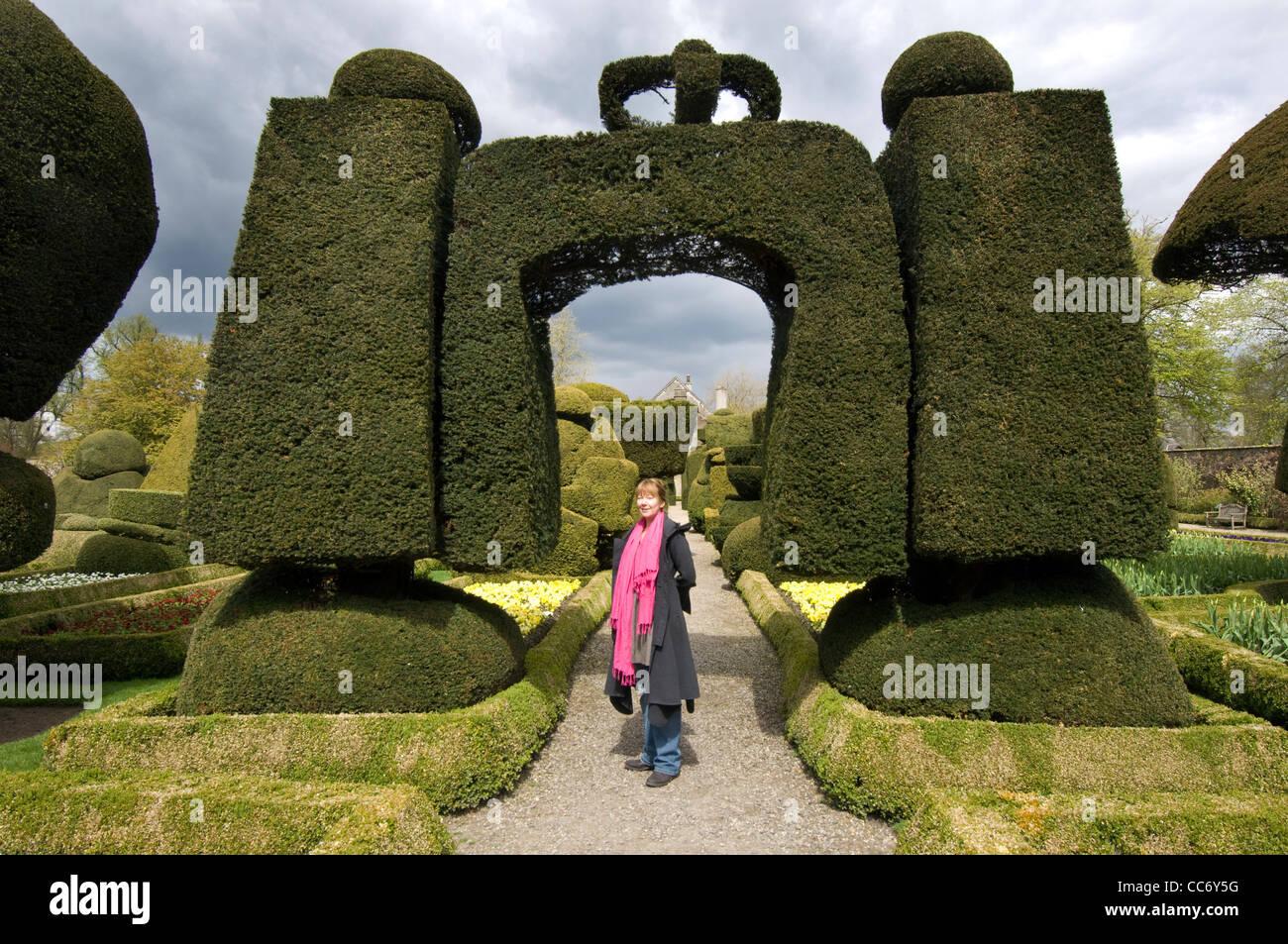 Levens Hall Gardens Lake District Stock Photos & Levens Hall Gardens ...