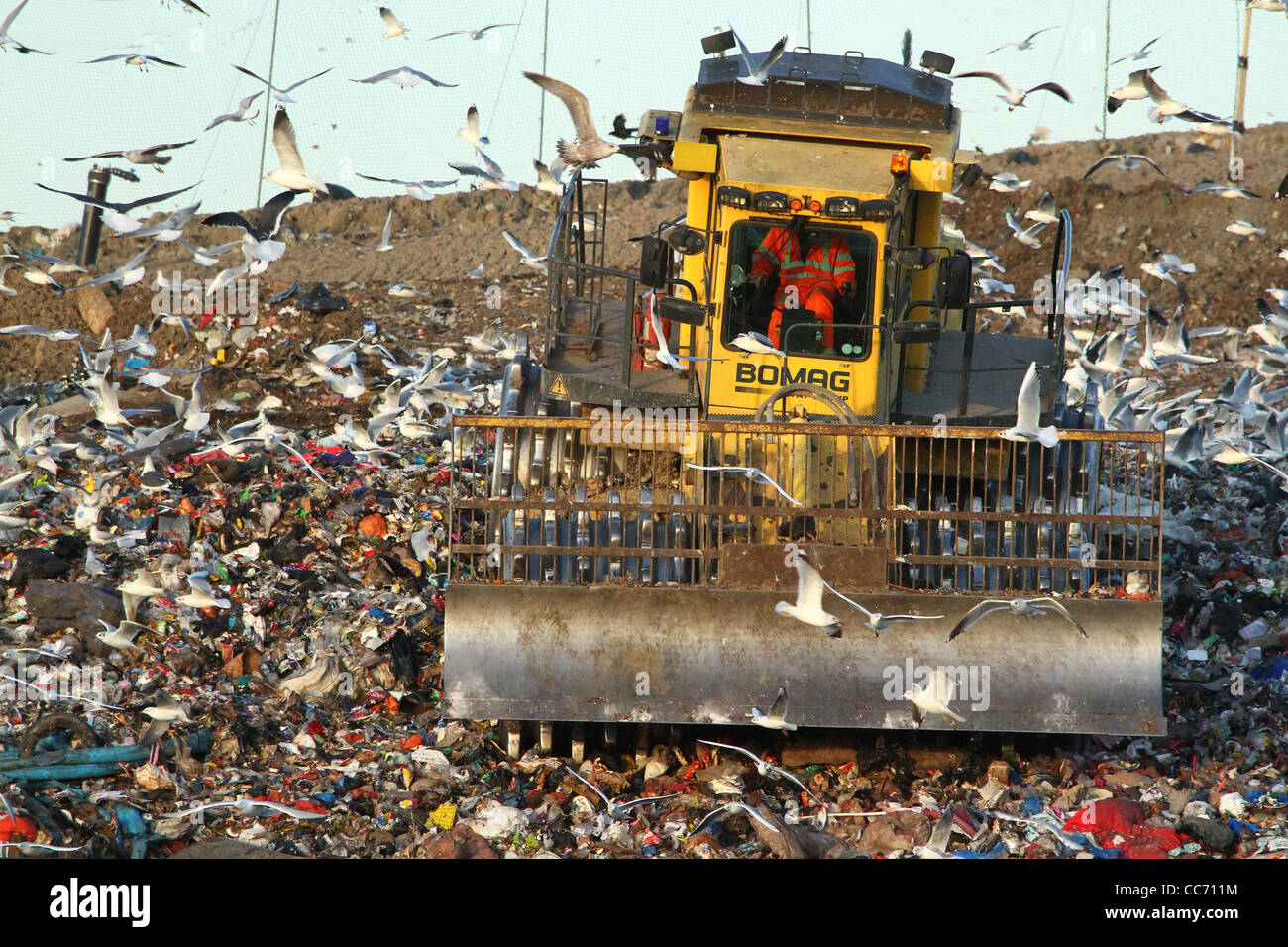 A landfill site in Huntingdon, Cambridgeshire - Stock Image