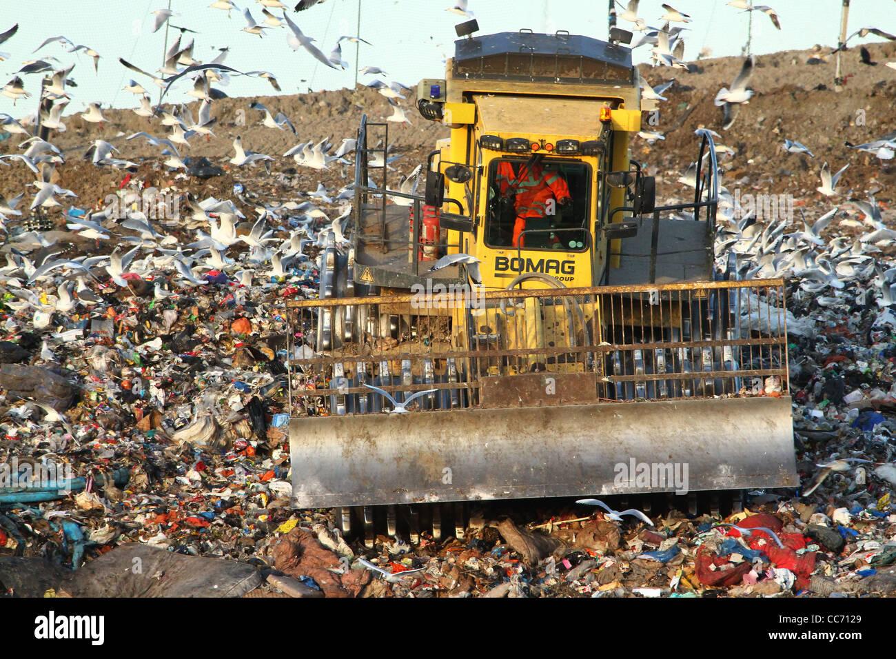 A landfill site in Huntingdon, Cambridgeshire Stock Photo