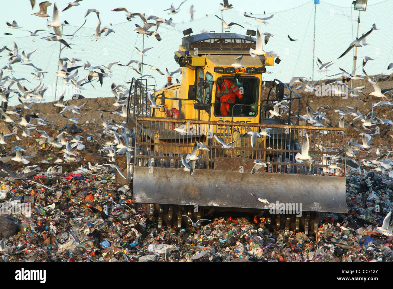 A landfill site in Huntingdon, Cambridgeshire Stock Photo