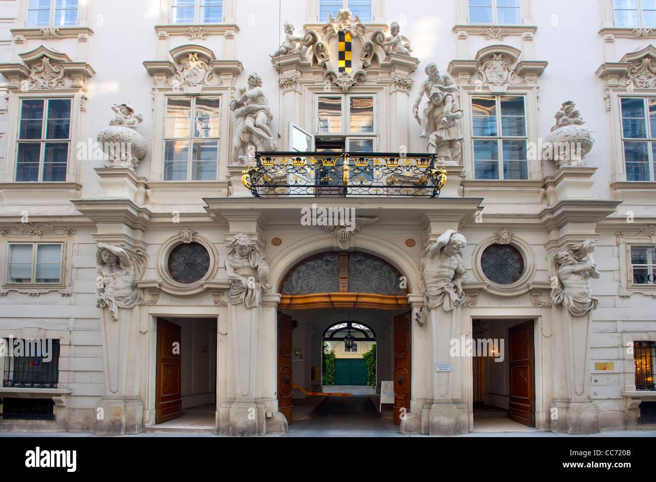 Österreich, Wien 1, Singerstrasse 16, Palais Neupauer-Breuner, das grosse Palais gilt als einer der beachtlichsten - Stock Image