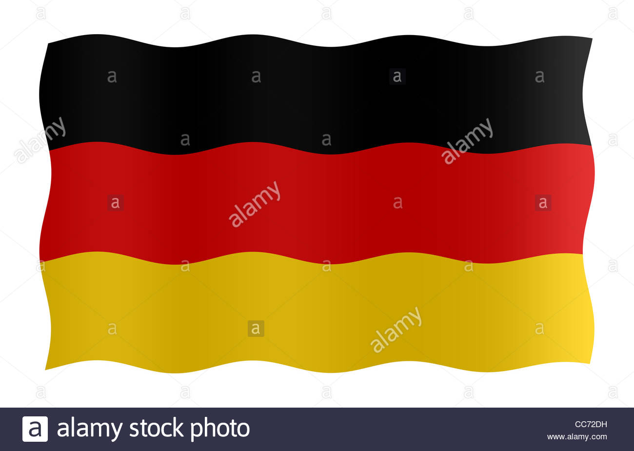 Digital Illustration - flag of Germany - Stock Image