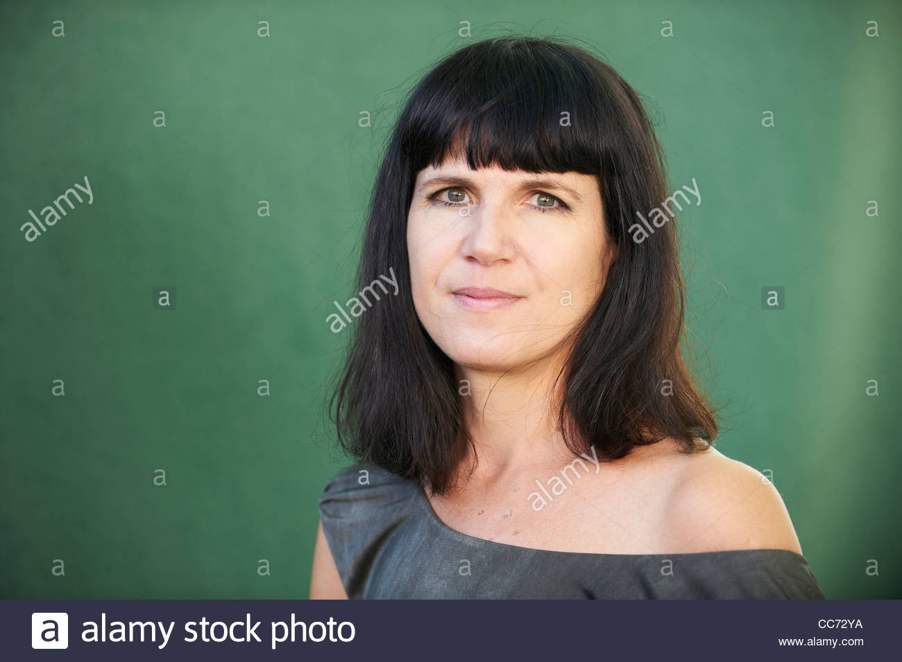 Catherine Mayer, journalist, commentator and writer of Amortality about aging at The Edinburgh International Book - Stock Image
