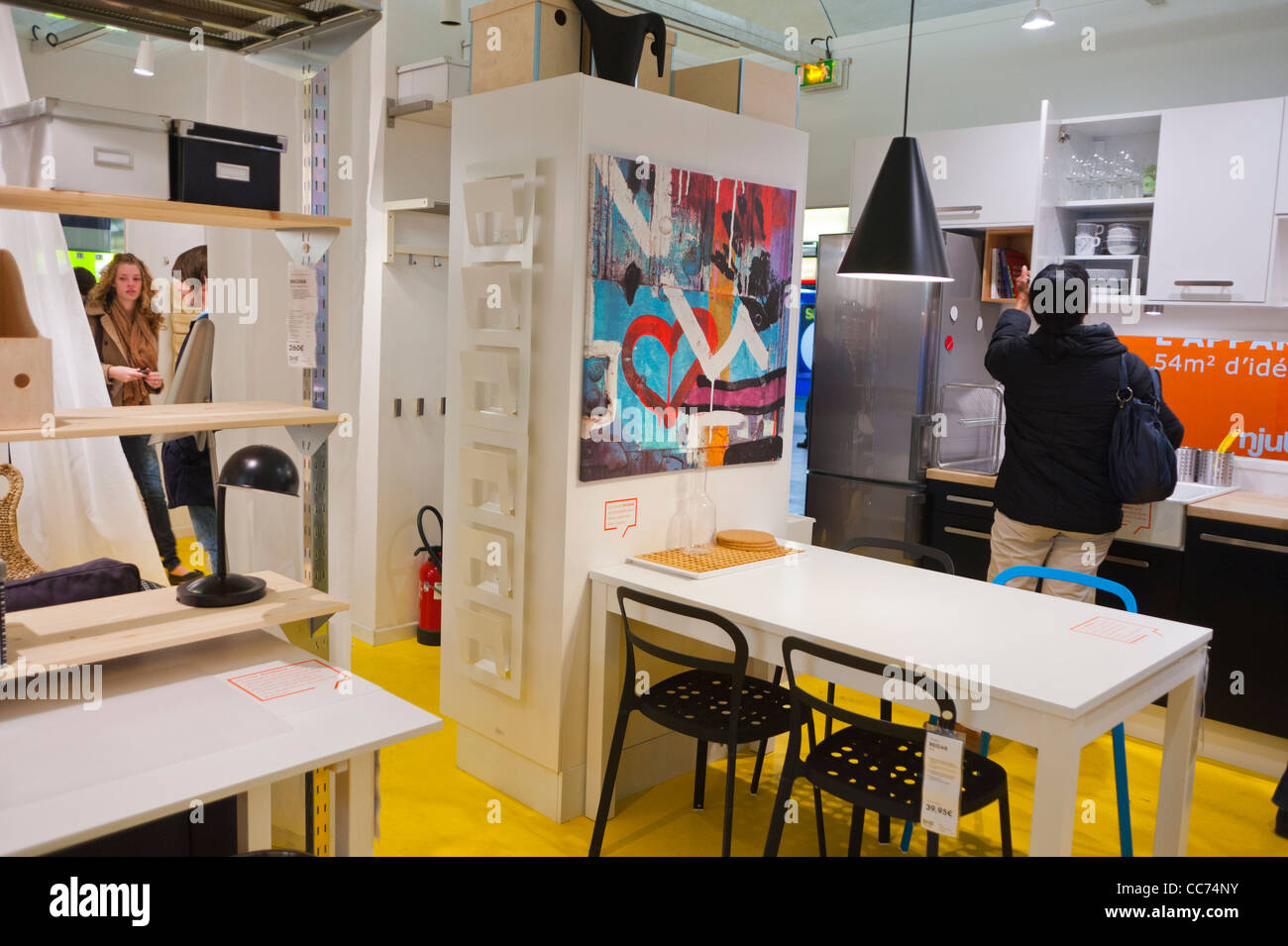 Paris, France, Advertising Furniture Shopping, Ikea Furniture Store,  Installation, In Auber Station. International Ready To Assemble Furniture  Comapany, ...