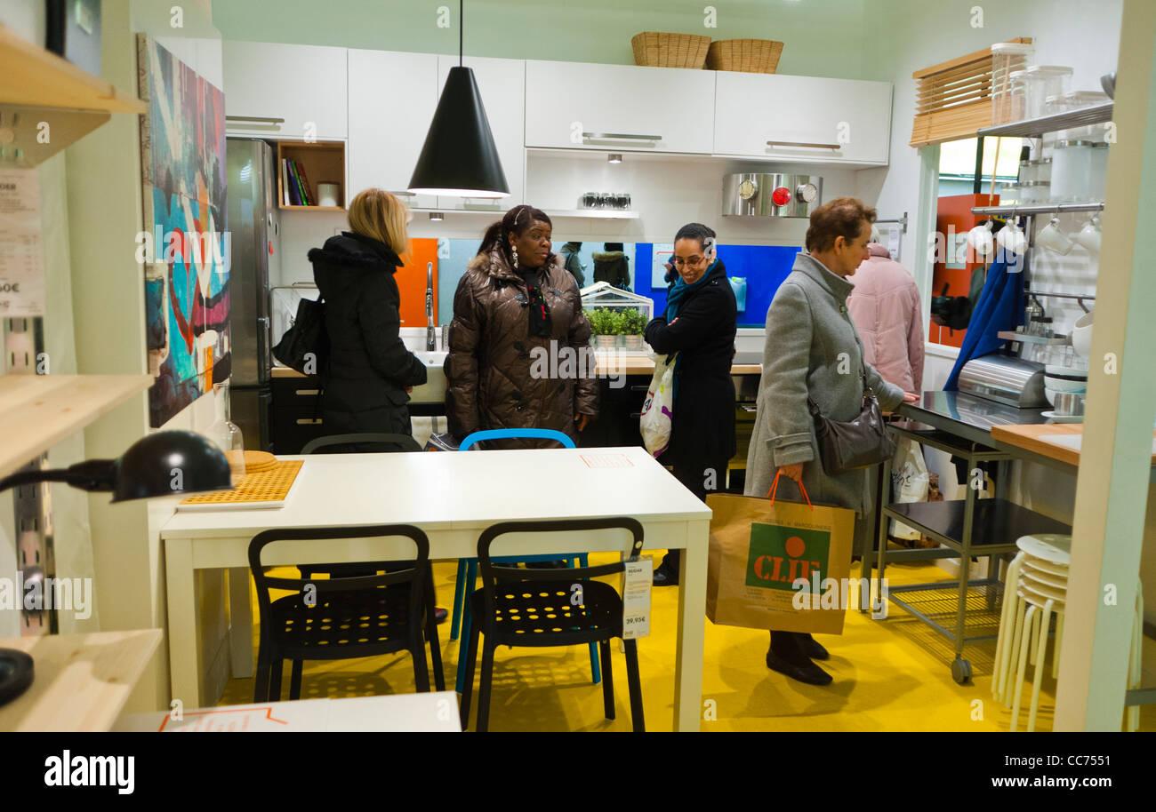 Merveilleux Paris, France, Advertising Furniture Shopping, Ikea Furniture Store,  Apartment Installation, In Paris Met Ro, Auber Station. International Ready  To Assemble ...