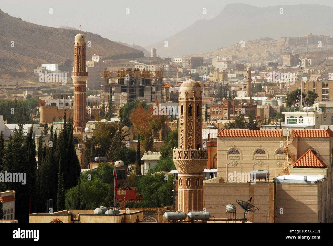 sanaa ancient capital city yemen stock photos & sanaa ancient