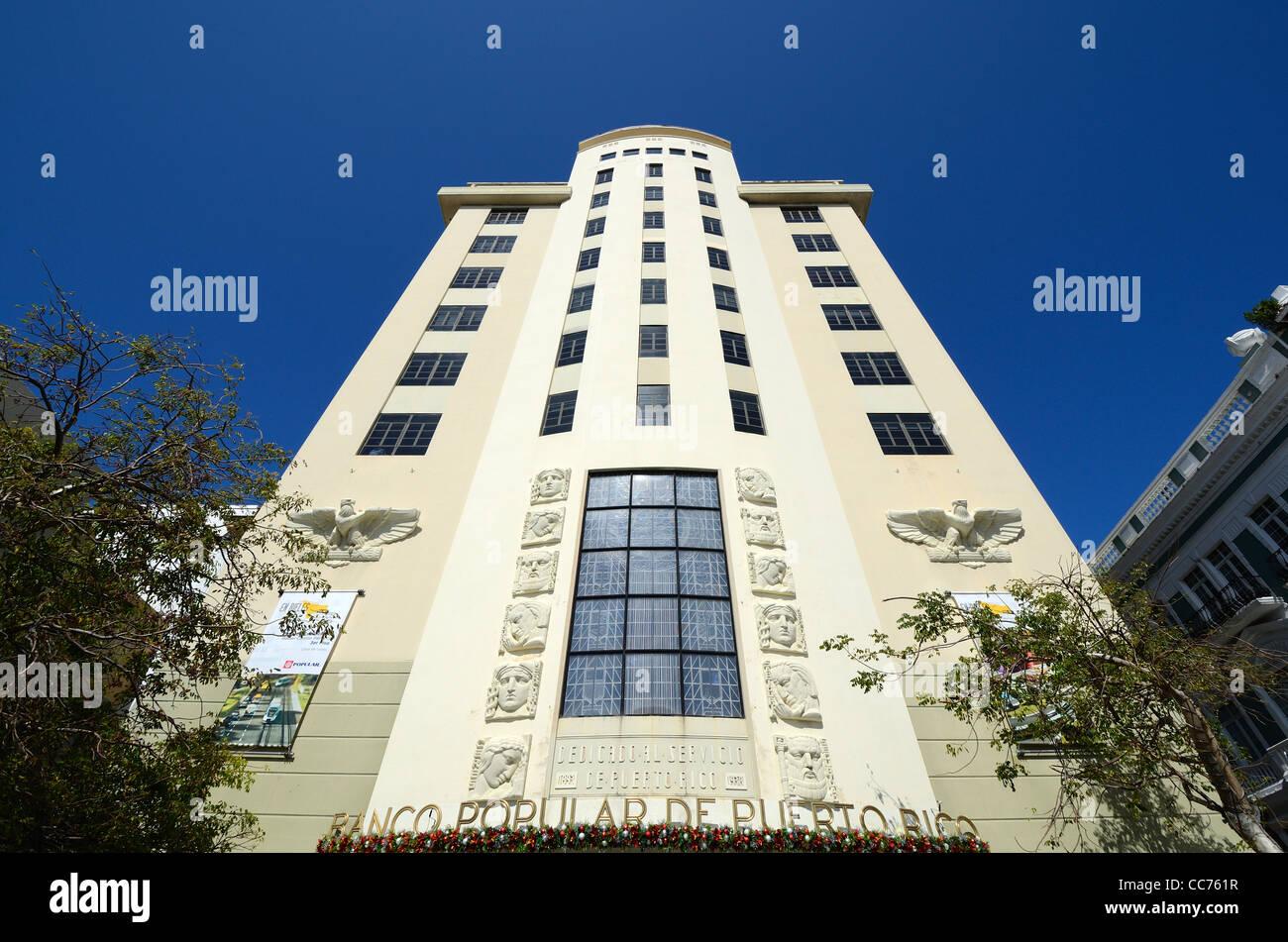 Banco Popular De Puerto Rico in San Juan, Puerto Rico. - Stock Image