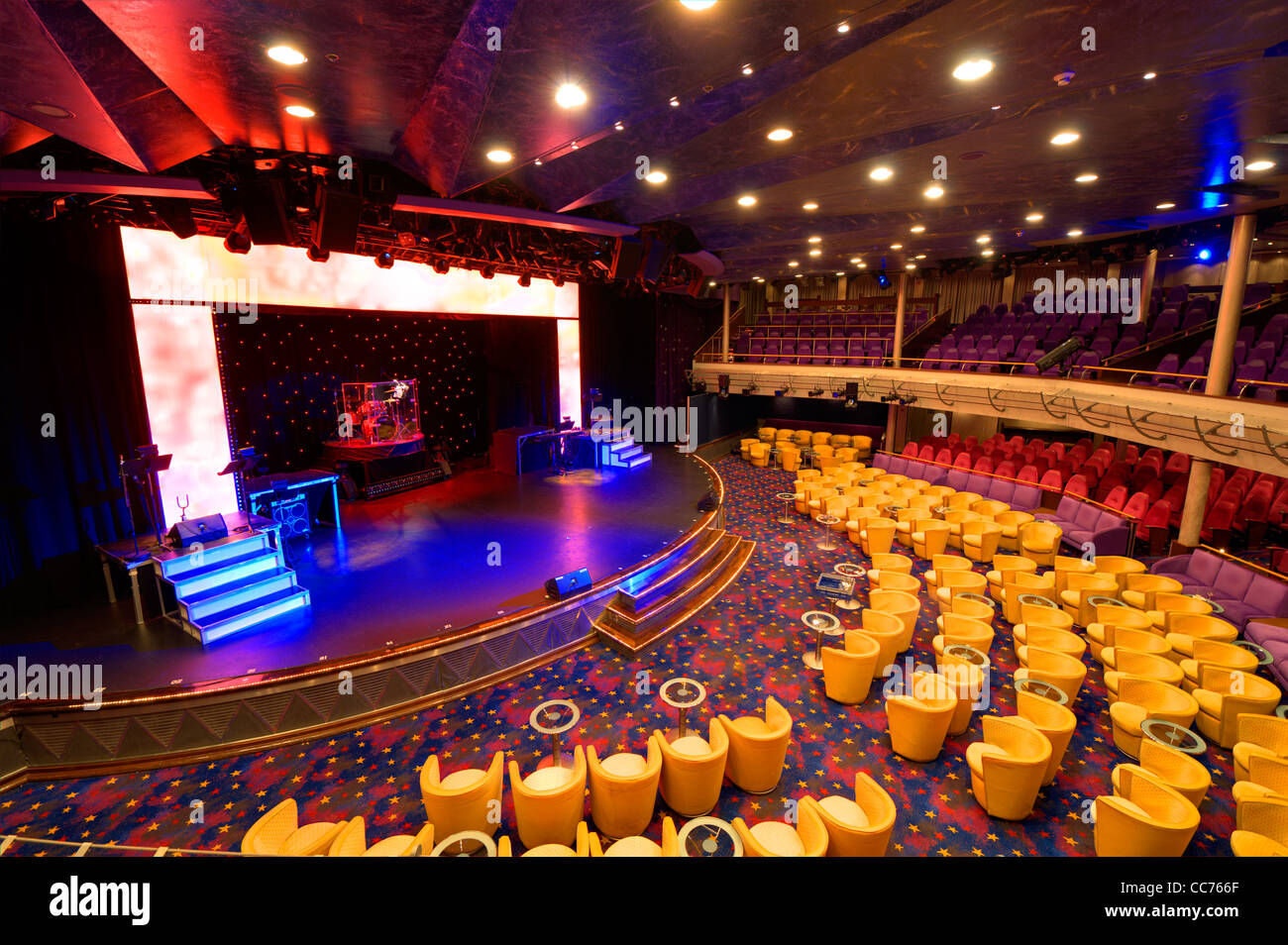 Performance hall and stage - Stock Image
