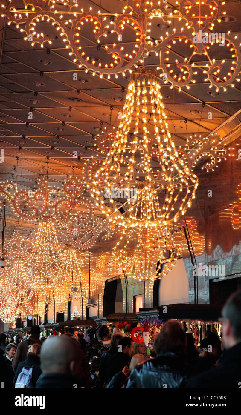 Christmas Lights In Paris.France Paris Christmas Lights Decoration Of Galeries