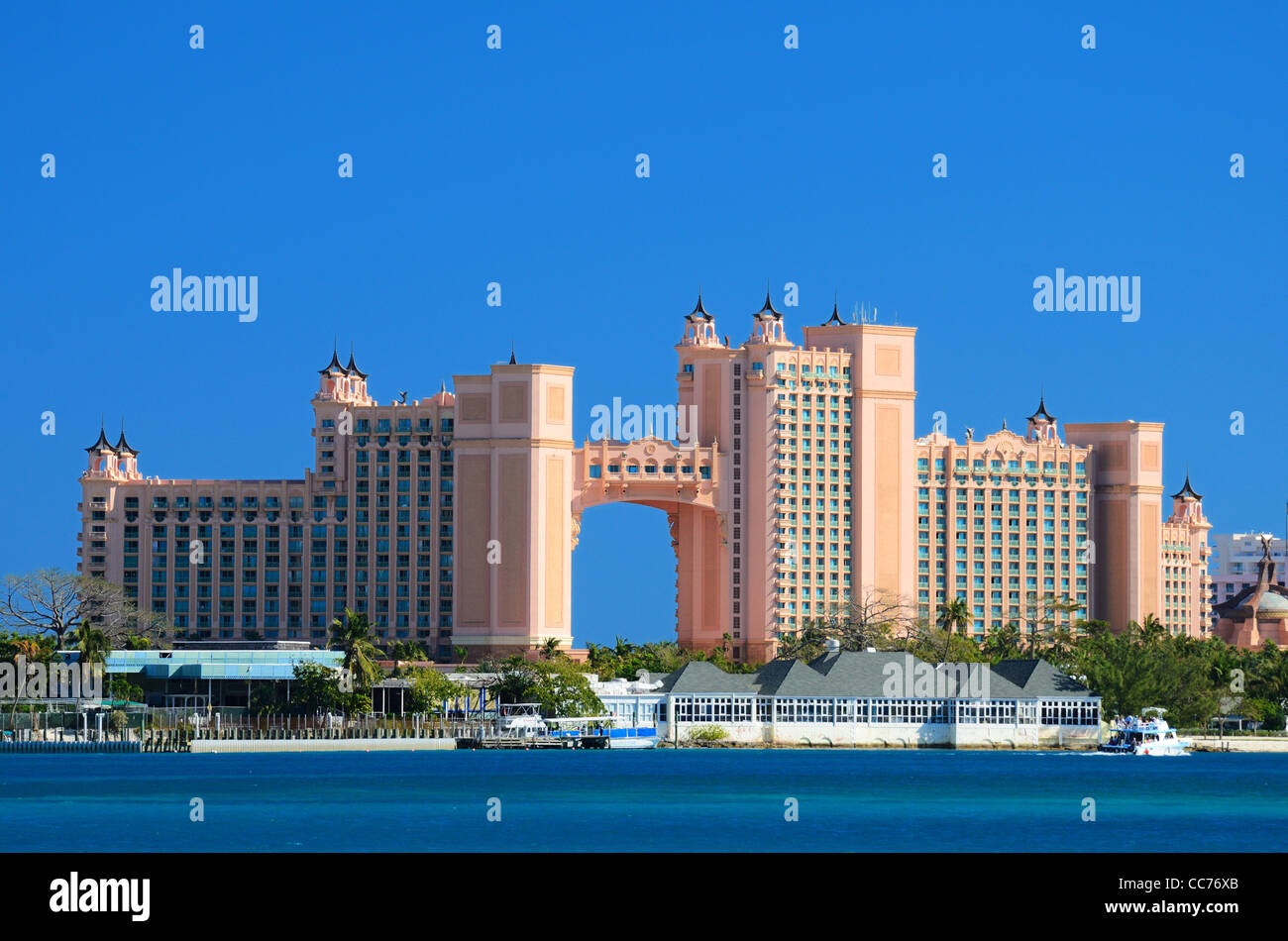 Atlantis Paradise Island resort in Nassau, Bahamas. - Stock Image