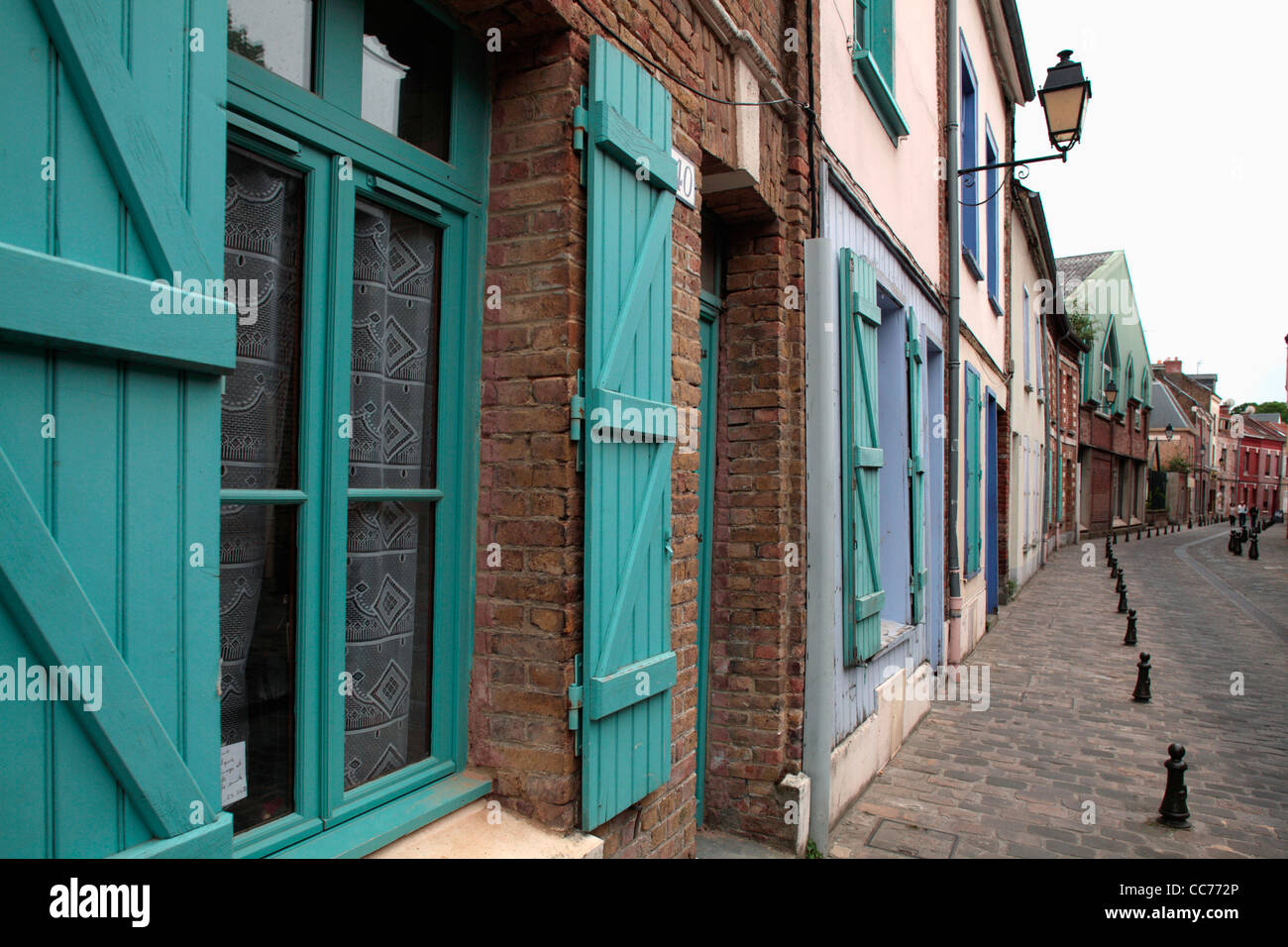 France, Amiens, Old houses in Saint Leu neighbourhood - Stock Image