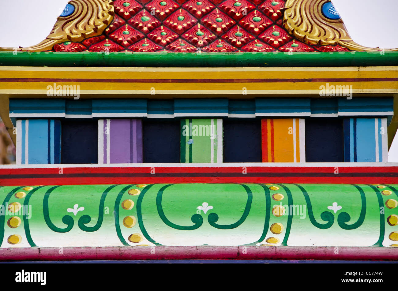 Fiji Nadi hindu temple top city tourist attraction and symbol - Stock Image
