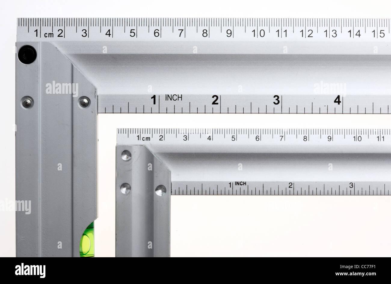 Angled blade, L-blade. - Stock Image