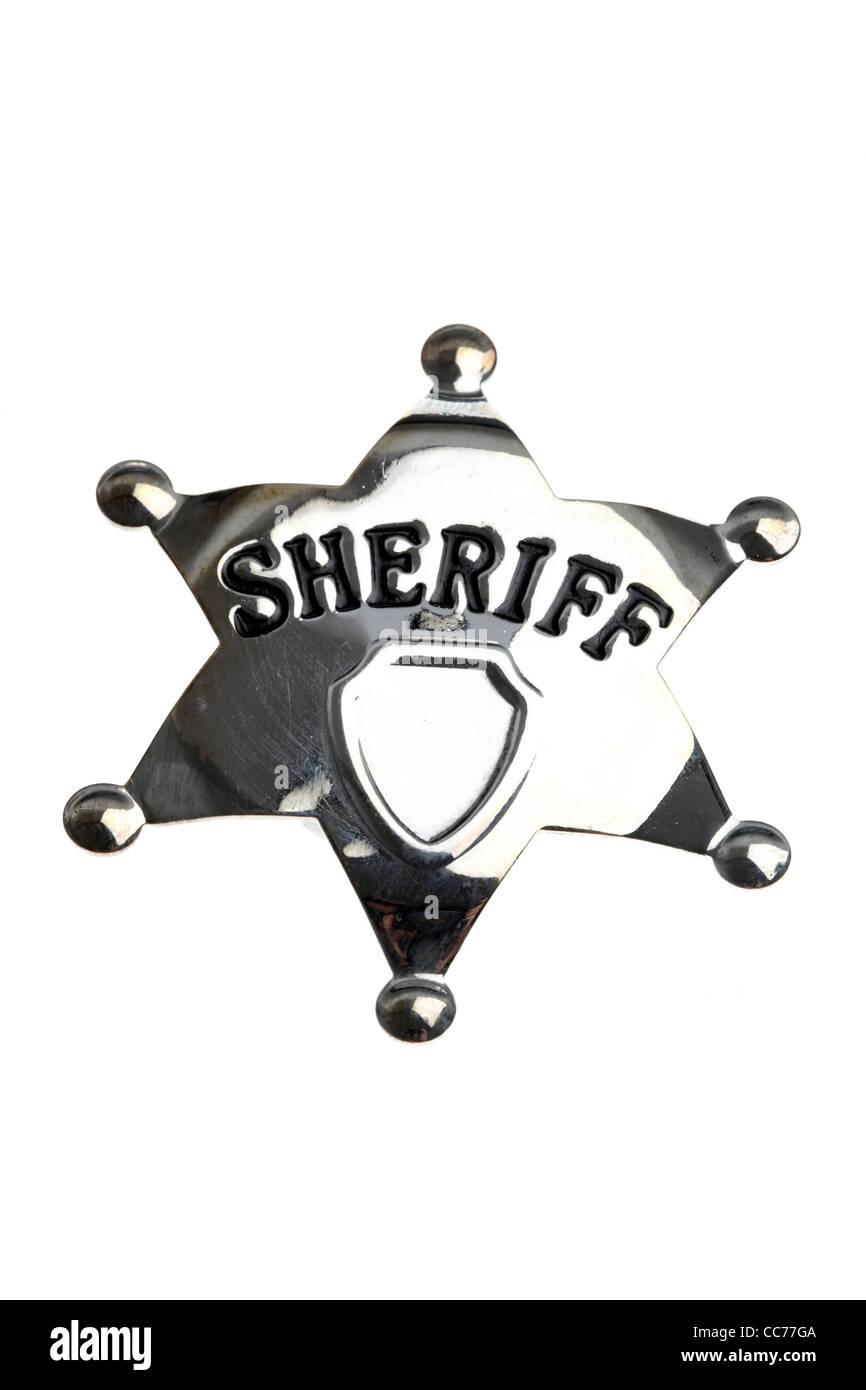 Sheriff's star. - Stock Image