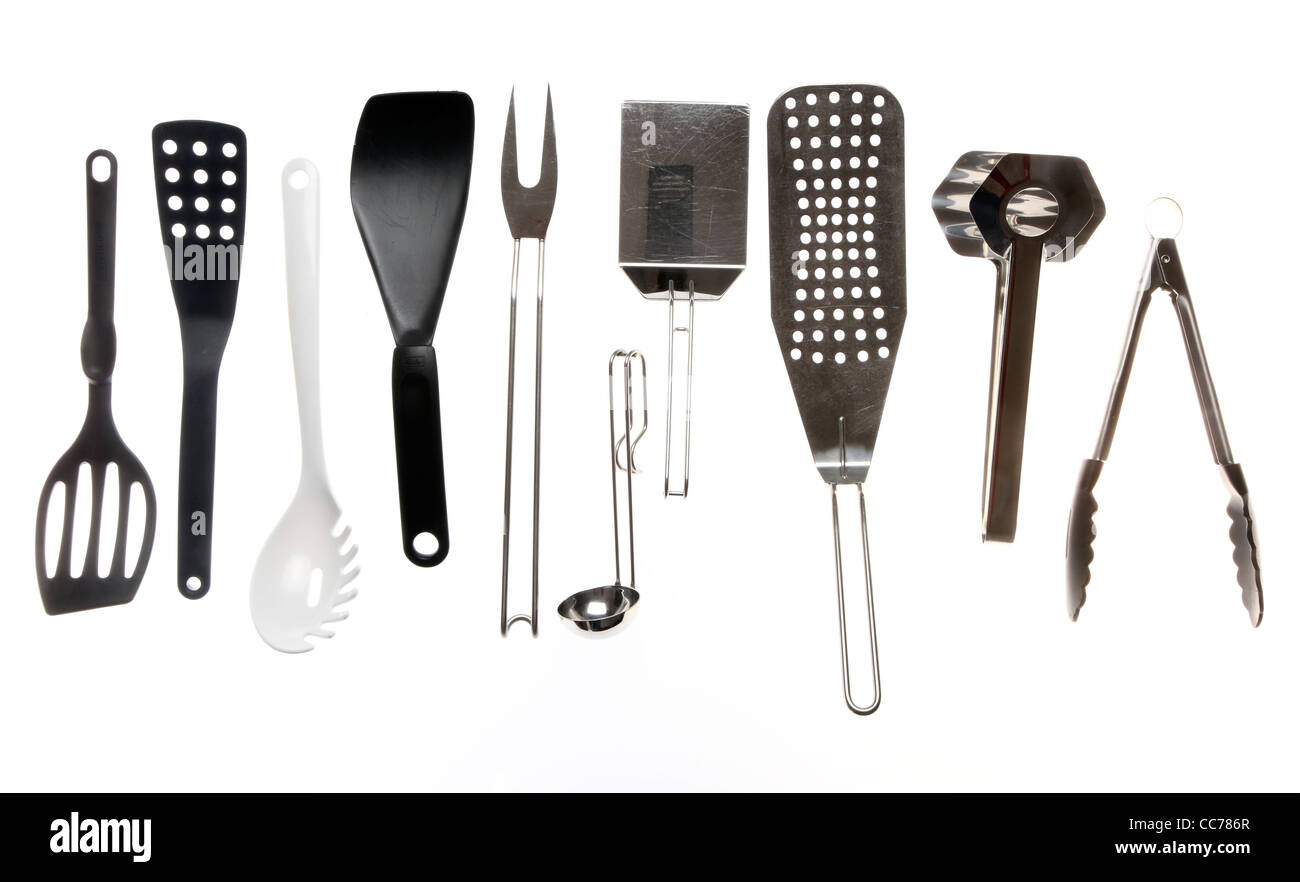 Various types of kitchen tools, cooking devices Stock Photo ...